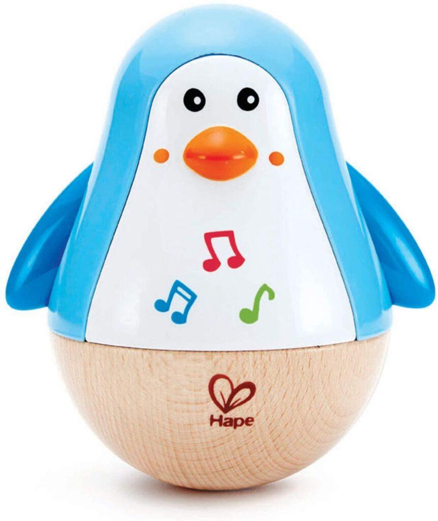 pinguino musical madera